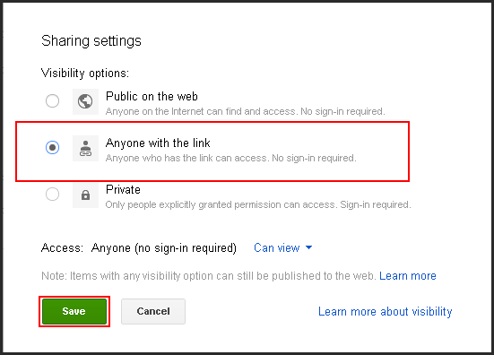 how to get url of image on google drive