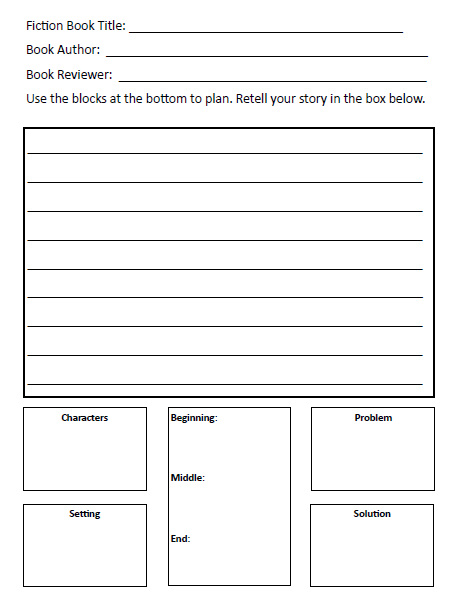 ks2 non fiction book review template