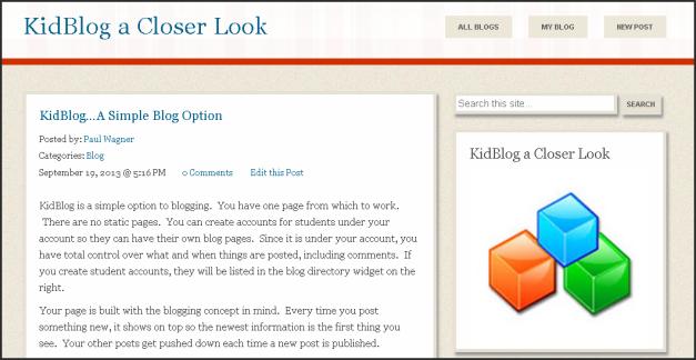 KidBlog a Closer Look