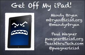 Get Off My iPad image