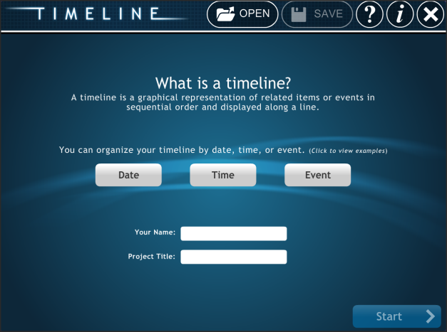 timeline main page