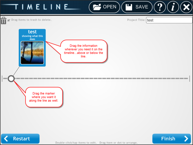 timeline setting order and saving